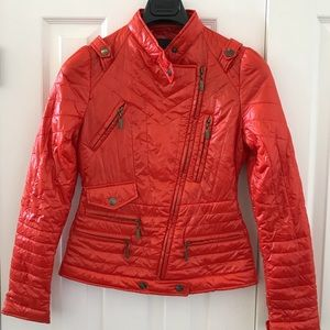 JUST CAVALLI Biker Slim Puffer Jacket-100% Auth!!